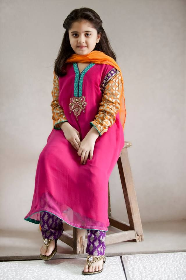 Pakistani Dress Designs for Girls - Maria B. Kids Collection 2014 www.latestasianfashions.com/pakistani-dress-designs-girls-maria-b-kids-collection-2014/