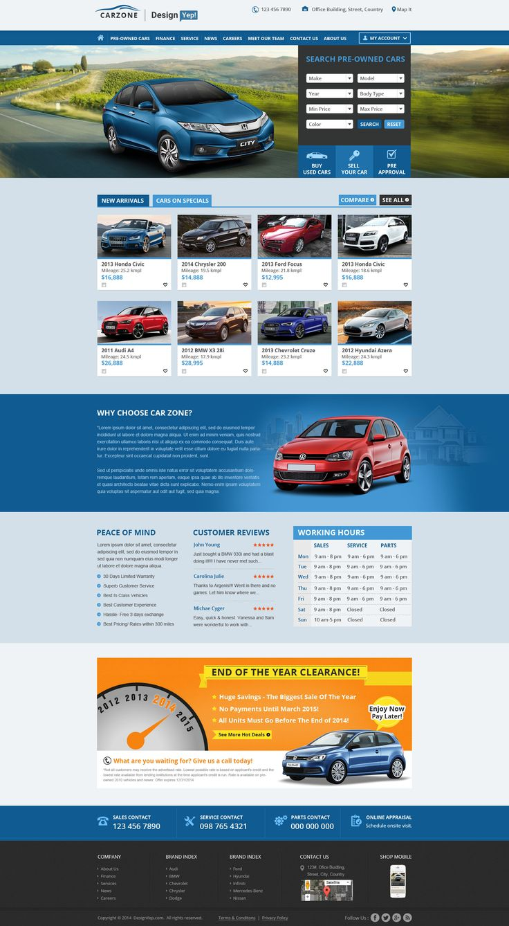 Car Themed Website Design Psd Mockup Available For Free Car Themed Website Design Psd Mockup Psd Website Website Design Website Redesign Car dealer website template free