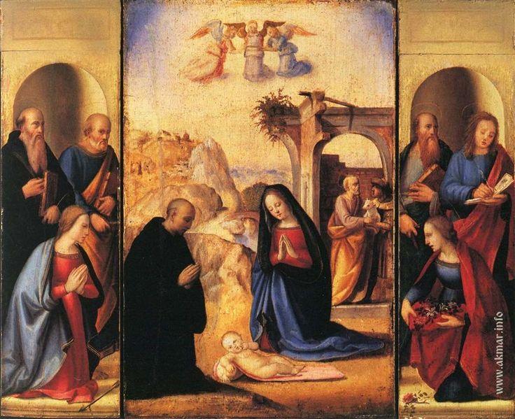 Ридольфо Гирландайо. Рождество со святыми. 1509—1515. Музей искусств Метрополитен. Нью-Йорк. США