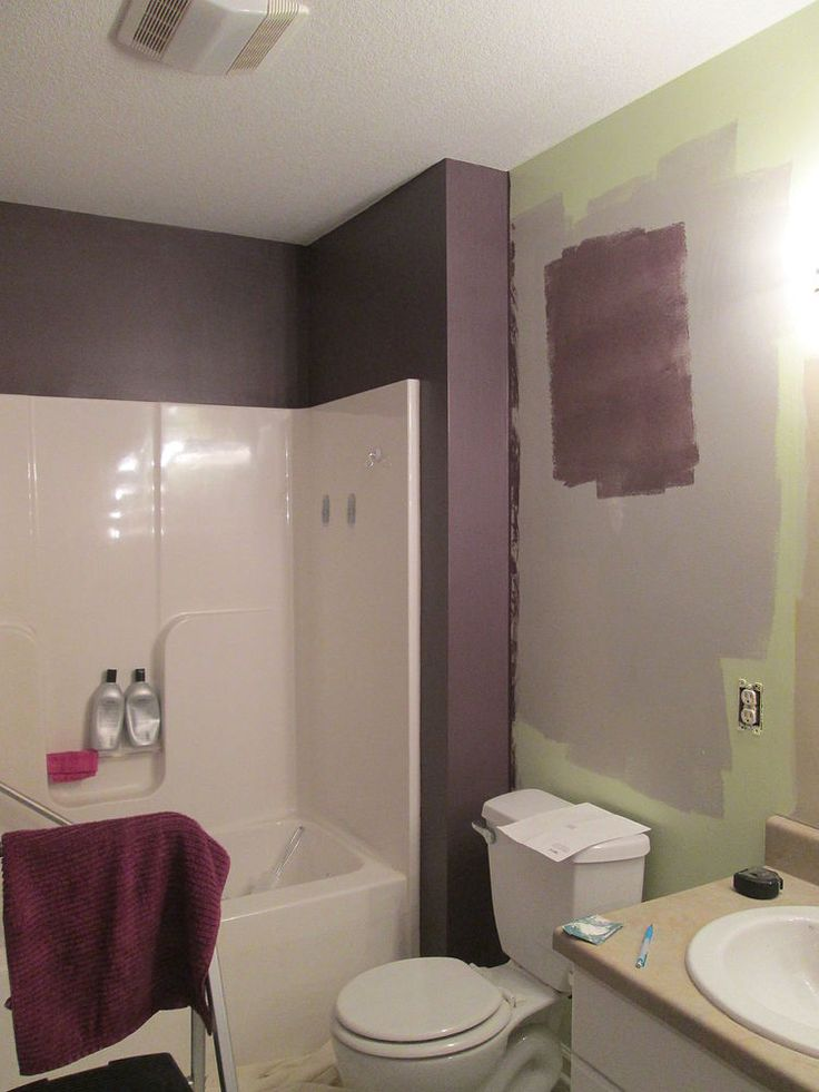 Expressive Plum Sherwin Williams Spa+Inspired+Bathroom+Makeover
