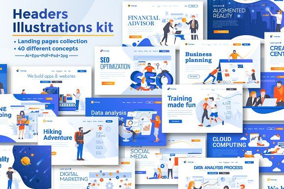 Collection Of Landing Page Templates Landing Page Digital Marketing Page Template