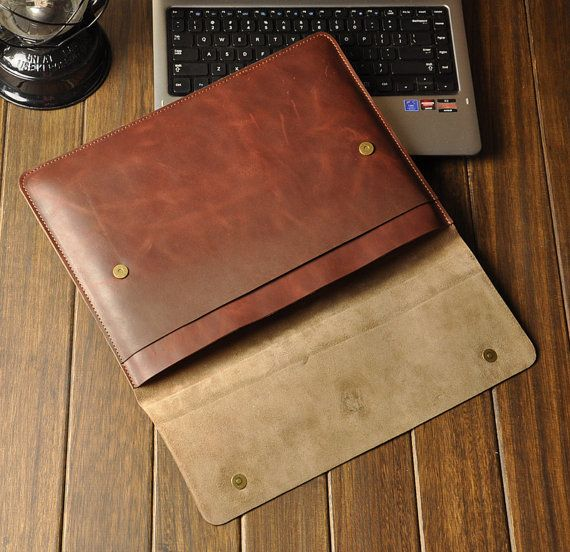 laptop case - Leather