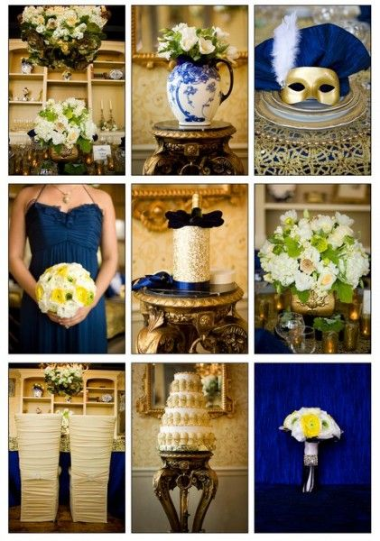 85 best wedding color ideas images on pinterest wedding colors wedding theme french luxury blue gold wedding decorationswedding themeswedding junglespirit Images