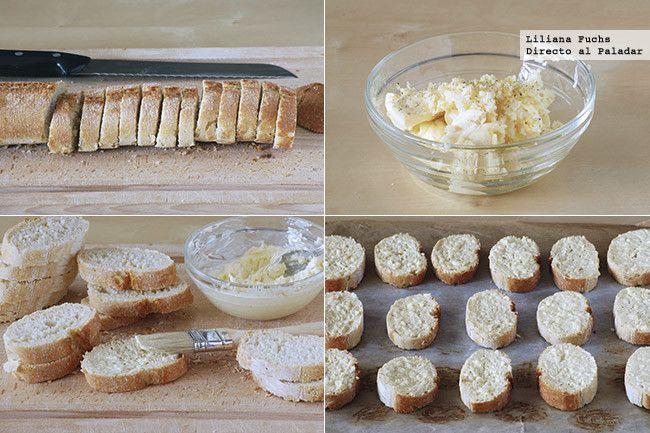 Pan de ajo: Mantequilla, aceite, pimienta, ajo rallado, ajo en polvo, orégano.