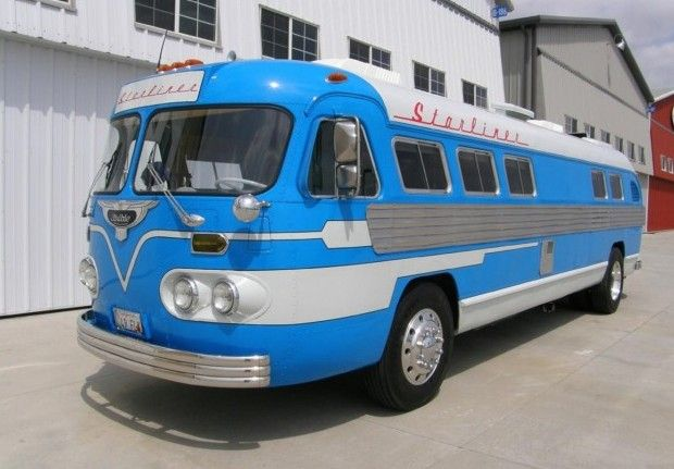 This 1949 Flxible Starliner bus has been tastefully converted into a motorhome with some modern touches but still enough vintage details. The exterior has been restored in the original color scheme, and Alcoa alloys and a GM Ram Jet 502 big block have been added. We remember this one being listed on eBay last year, but you can now find it here on Craigslist in Riverside, California for $95k. Special thanks to BaT reader Tim C. for this submission!