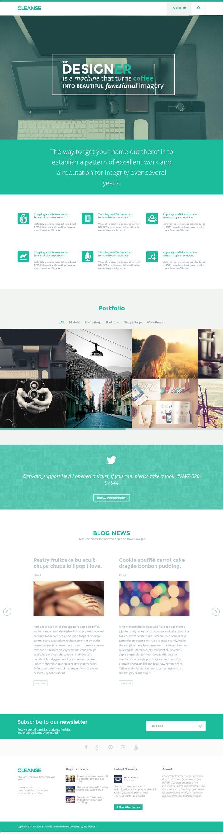 40+ Best Portfolio WordPress Themes of 2014 #wed #design #portfolio