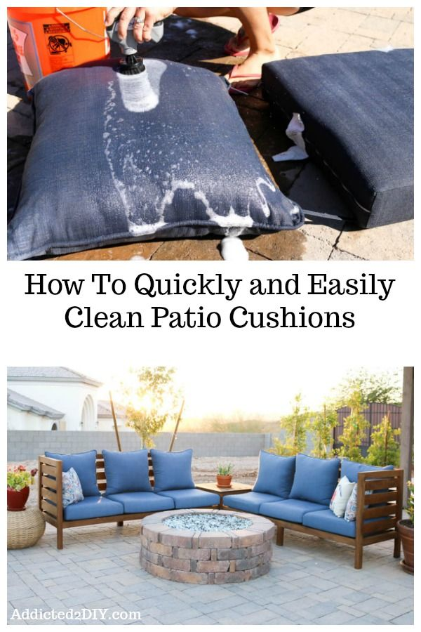 How To Clean Patio Cushions The Easy Way Clean Patio Patio