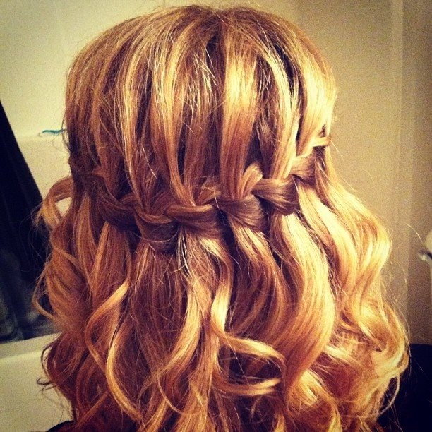 Waterfall braid + Bombshell Curling Rod = hair euphoria.  Did this on my Munchkin & it came out supper cute!! :)