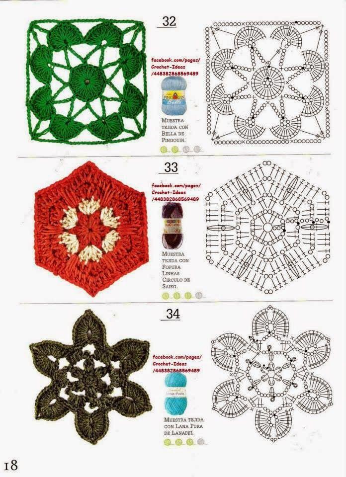 32 mejores imágenes de punts trucs ganxet en Pinterest   Ganchillo ...