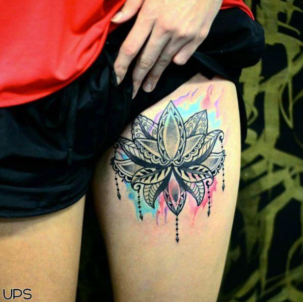 50 besten 50 amazing lotos tattoo ideas bilder auf pinterest lotusblumen blumen oberschenkel. Black Bedroom Furniture Sets. Home Design Ideas