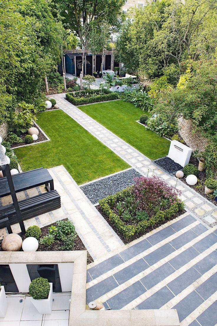 Diagonal paving garden design garden dreams pinterest for Modern japanese garden