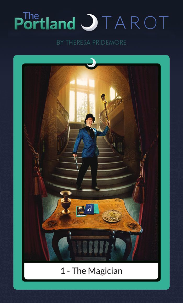 """1 - The Magician"" Card - The Portland Tarot Major Arcana by Theresa Pridemore"