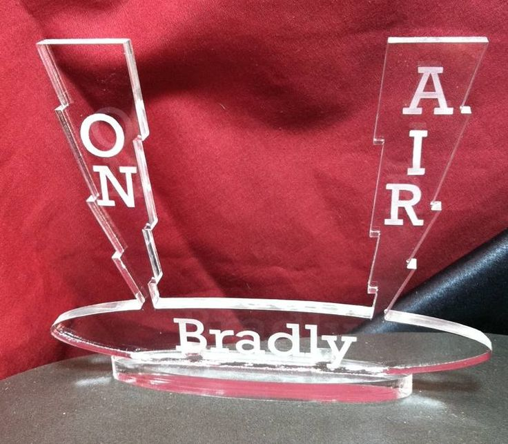 Amateur / HAM Radio Cake Topper, Personalized, Names, Call Sign Engraved