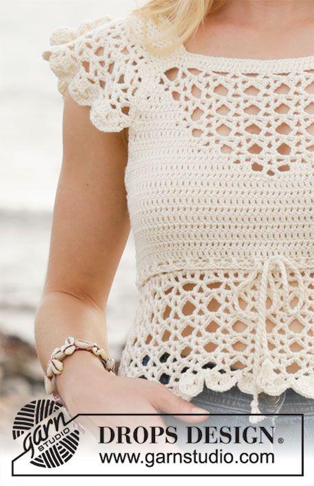 190-21 California Dream - padrão topo verão crochet com gráficos da DROPS d ...