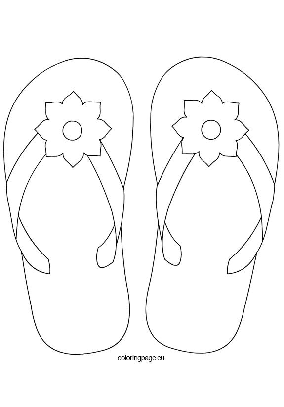 flower-flip-flops2 - think I'll digitize this as an applique. 1) applique the shoe 2) embroider the straps 3) applique the flower 4) embroider the center of the flower. This would be perfect  DIY koozies and if each koozie was in a different color/fabric it would be easy to ID your own drink.