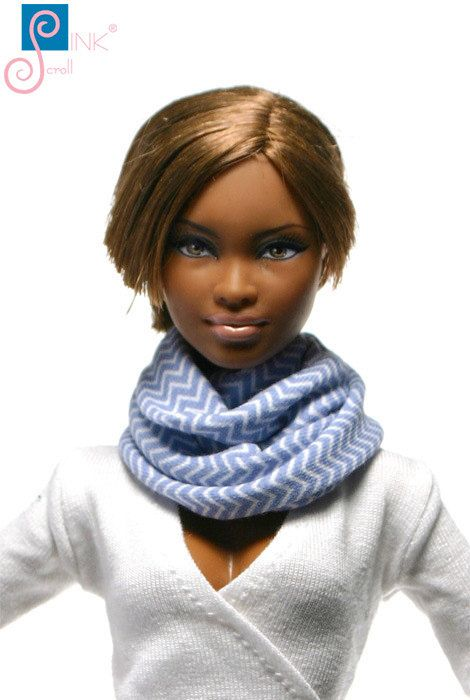 Doll clothes scarf: Joanina by Pinkscroll on Etsy