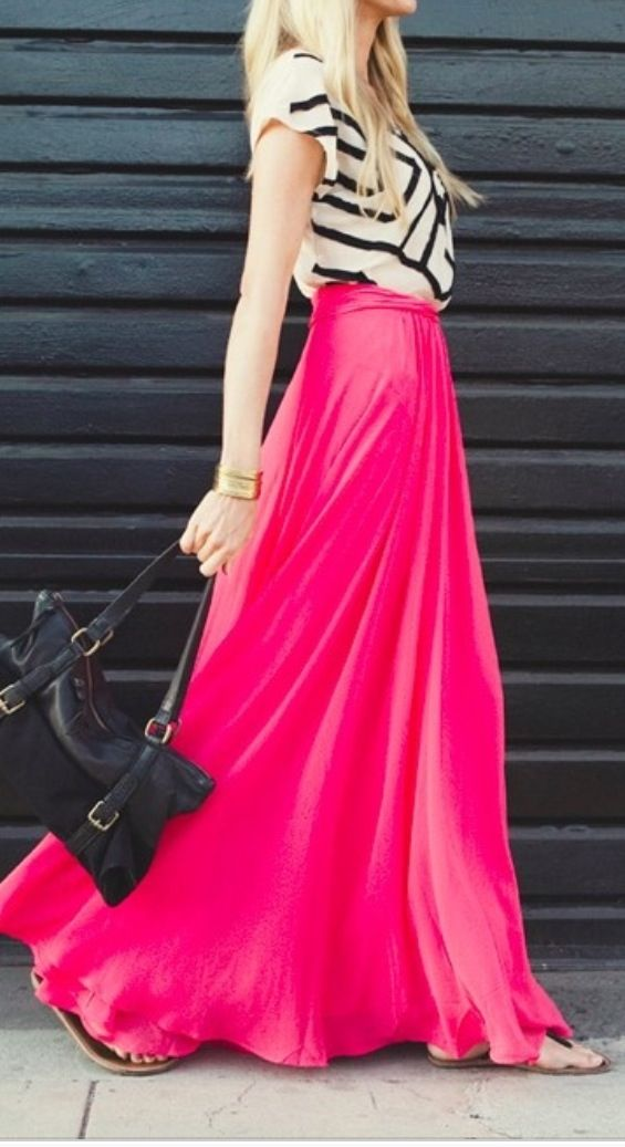 45 Trendy Maxi Skirt Outfits Ideas for Girls: 2016