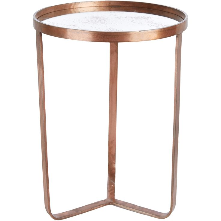 Passport To India Large Iron Mirrored Side Table