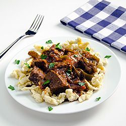 """Hungarian Beef Paprika Stew — this authentic Pörkölt is what most people call """"Goulash"""""""