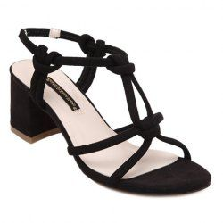 Trendy T-Strap and Elastic Design Sandals For Women