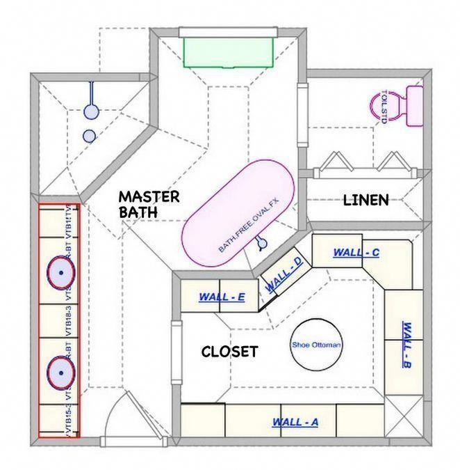 41 Master Bathroom Ideas Remodel Layout Floor Plans Walk In Shower Guide 7 Decorinspira Com Mast In 2020 Bathroom Floor Plans Master Bathroom Layout Bathroom Layout