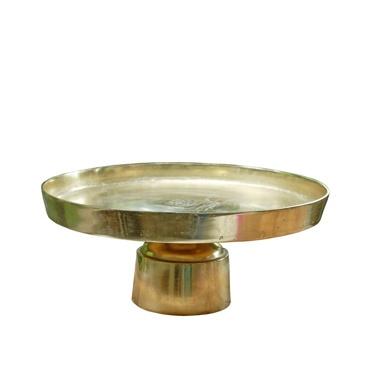Metal Cake Stand Gold 18.5in