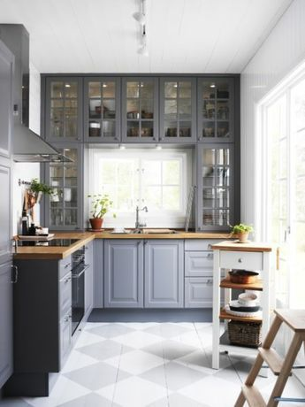 Holz Kchenfront Wandfarbe. Sitzbank Und Kücheninsel Mit