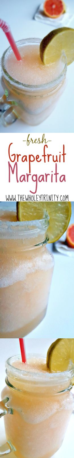 Fresh Grapefruit Margarita Recipe. Just 3 simple ingredients to make this all-natural cocktail drink! Happy Margarita Monday!