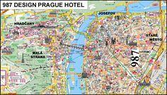 Prague Czech Republic Tourist Map - Prague • mappery