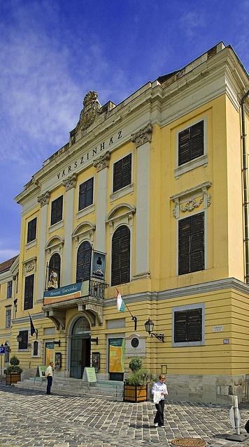 Varszinhaz (Castle Theatre), Budapest, Hungary.  Photo: youngrobv, via Flickr