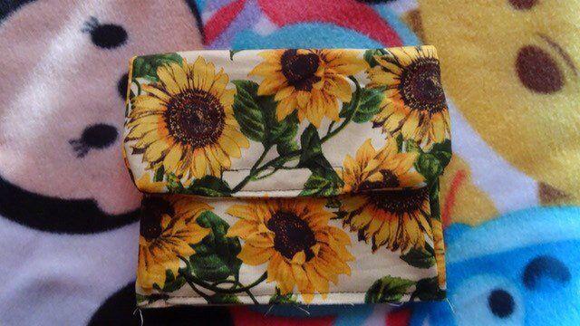 1060ae6bbac8 Sunflower cosmetic bag, sunflower makeup bag, Sunflower wedding gift ...