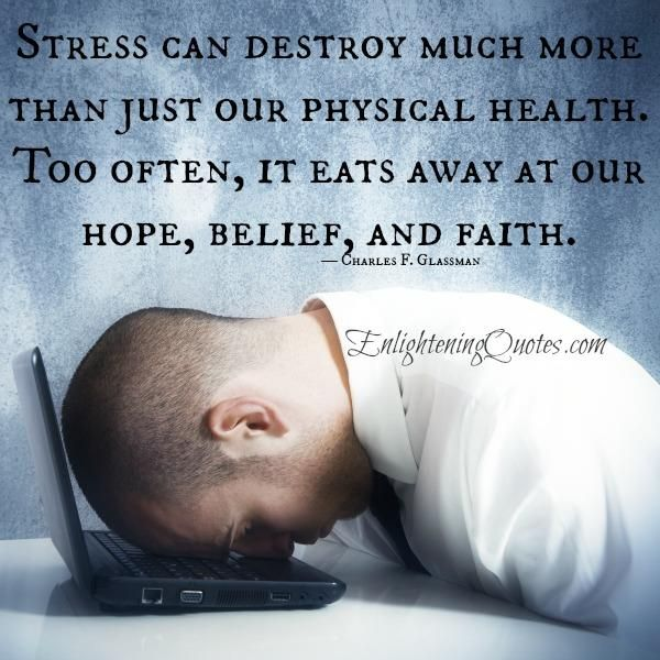 Stress is how a person responds to any #kind of demand or threat. {Since your autonomic nervous system doesn't distinguish between...