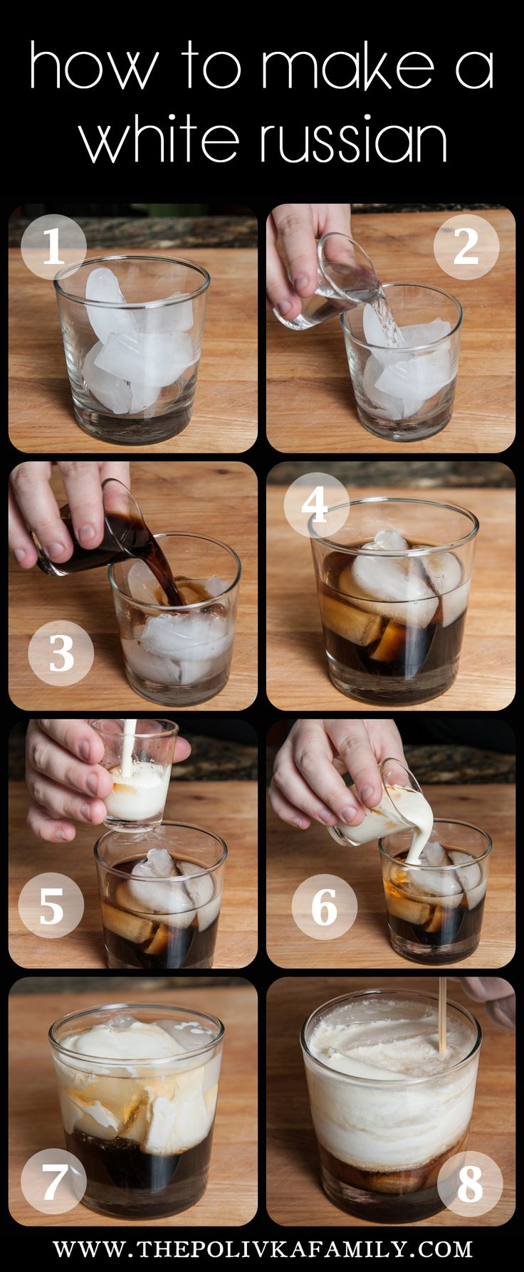 how to make a white russian drink