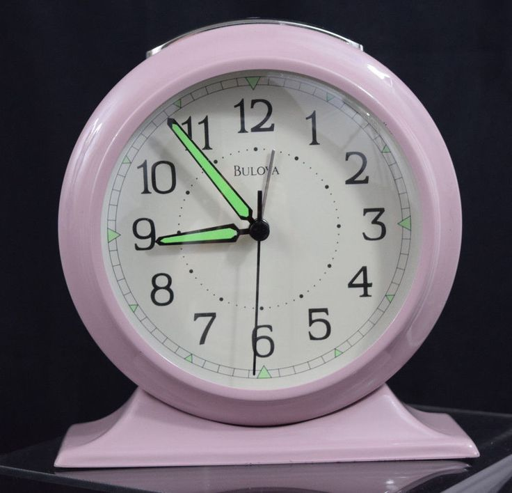 Bulova Clock Purple Metal Case Mantel Desk Shelf Hands Glow Light Up Alarm | Home & Garden, Home Décor, Clocks | eBay!