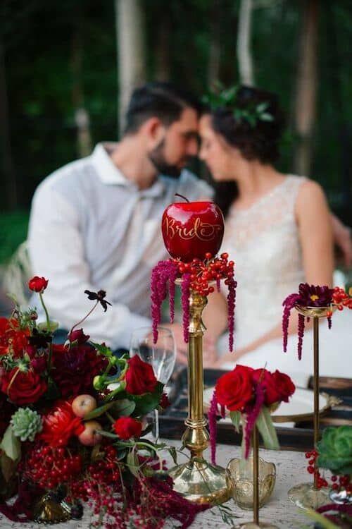 Boda En Rojo Decoración Centros De Mesa E Ideas Fabulosas Amazing Garden Wedding Pinterest Snow White And Themes