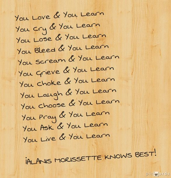 You Learn - By Alanis Morissette