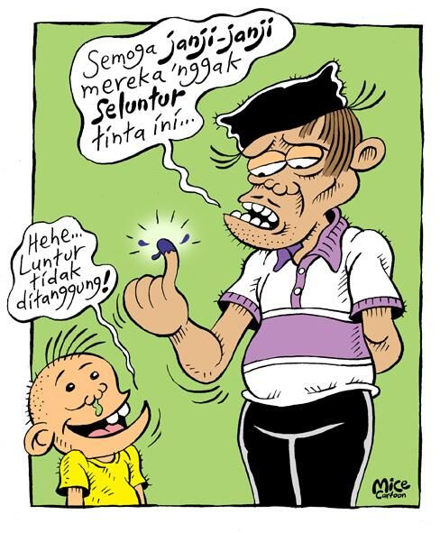 Mice Cartoon, Rakyat Merdeka; Dijamin Luntur....