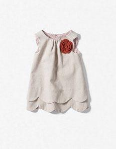 scalloped dress with rosette // zara