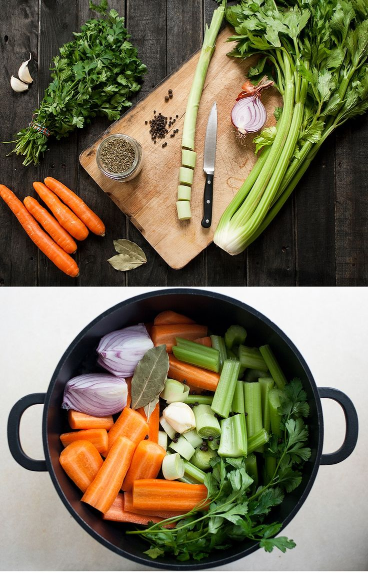 Super easy vegetable stock / boulion, ideal as a base for soups, sauces and stews.