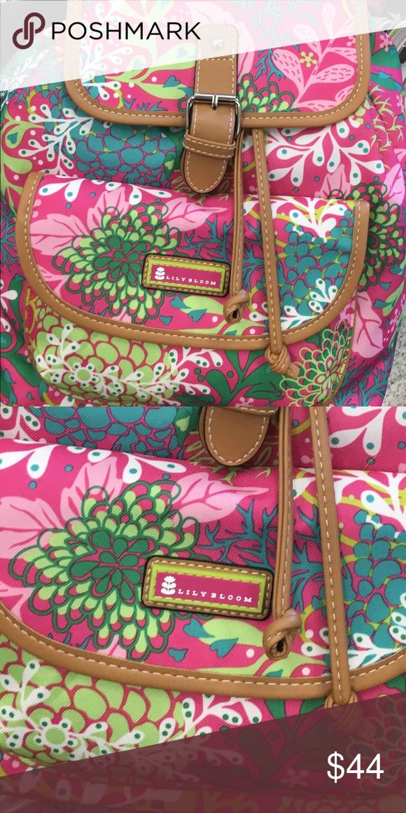 Lilly Pulitzer /Lily Bloom Back pack purse medium Lily Bloom Riley Multi-Purpose Backpack Made from recycled bottles - Eco friendly - Reduce - Reuse - Recycle lily bloom Bags Backpacks
