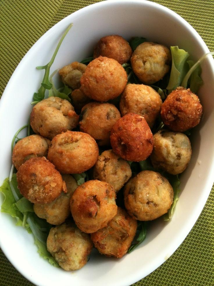 Polpette di Orata e Melanzane  Meatballs bream and eggplant  Meatballs Brassen und Auberginen    http://www.itisfood.it/web/ricette.aspx?cat=03+++++=231