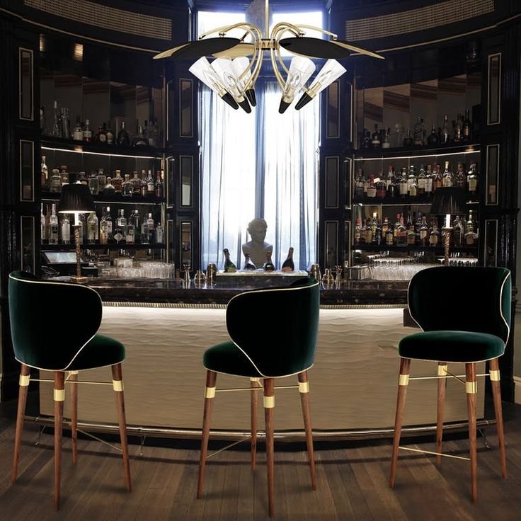 Louis Bar Chairs - Contemporary Armchairs & Club Chairs - Dering Hall