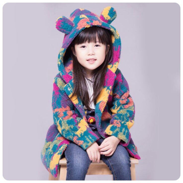 Abrigo en polar soft para niñas