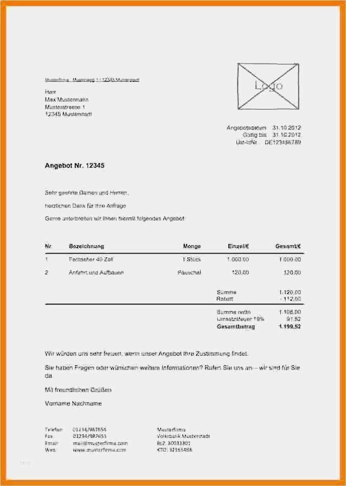 Elegant Schriftliches Angebot Vorlage Abbildung In 2020 Vorlagen Word Lebenslauf Gestaltung Vorlagen