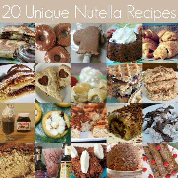 20 Unique Nutella Recipes! #nutella #food #dessert