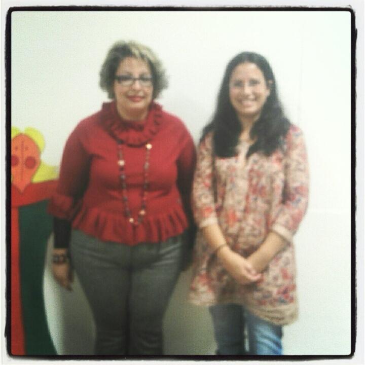 A Administradora do Real Colégio de Portugal, Dra Teresa Damásio, com a Escritora Marina Santos.