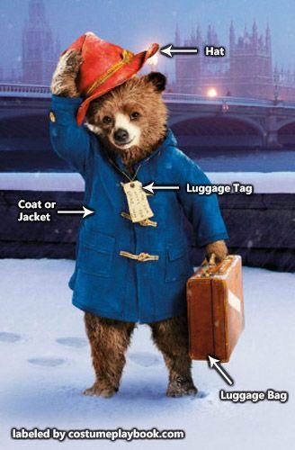Dress up as the adorable Paddington Bear! Full guide: http://costumeplaybook.com/comic-books/2579-paddington-bear-costume/