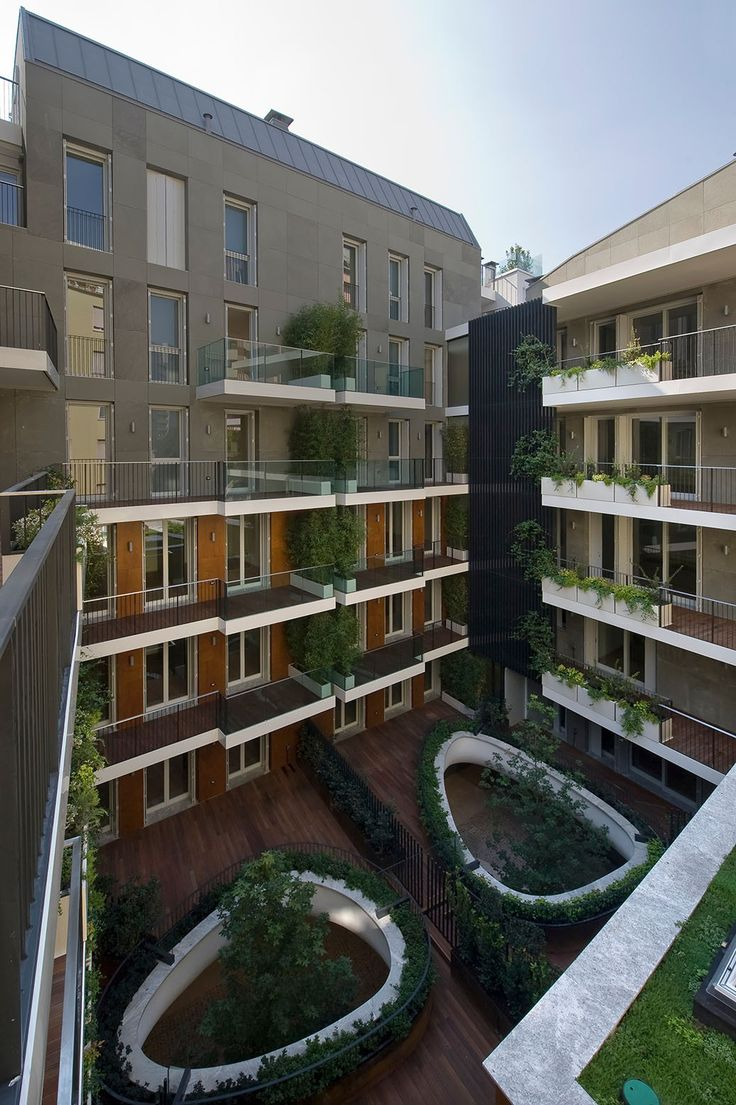Completed in 2013 in Milan, Italy. Milan's modern architecture has always been characterized by inner courtyard buildings and the typical case di ringhiera (tenement with communal...