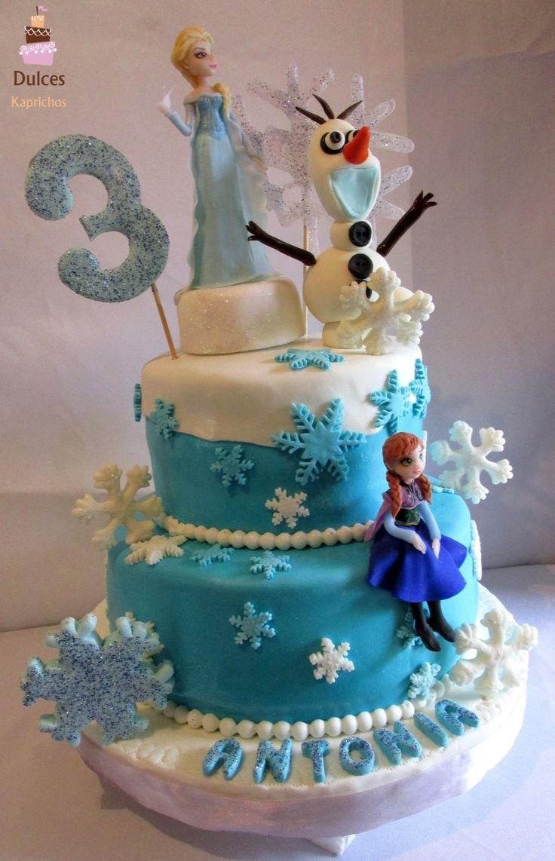 Torta Frozen #TortaFrozen #TortasDecoradas #Dulces Kaprichos