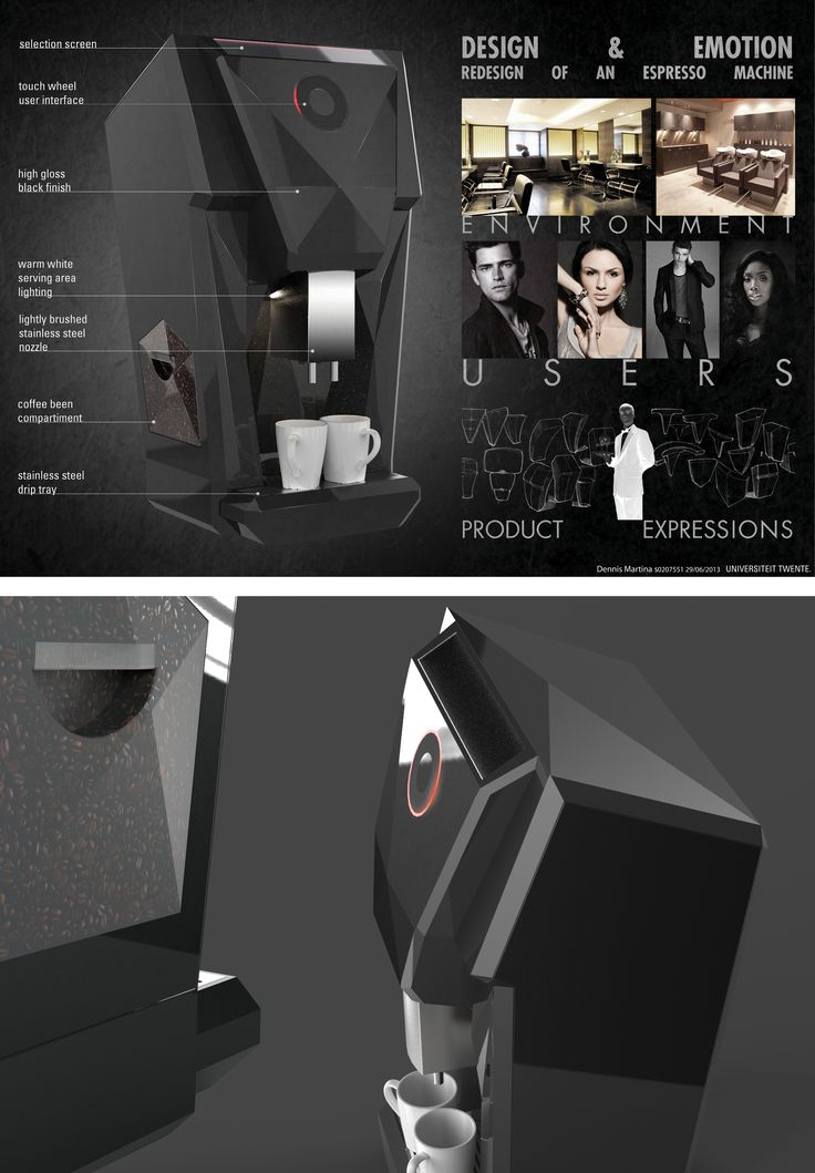 Coffee machine design concept focusing on the emotional relation between user, product and environment. 2013